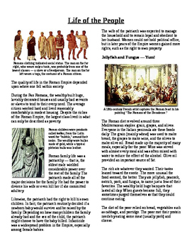 Informational Text - Ancient Rome: Life of the People (No Prep)
