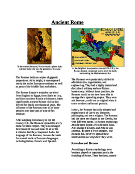 Informational Text - Ancient Rome (No Prep)