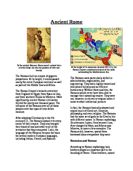 Informational Text - Ancient Rome (No Prep)