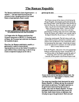 Informational Text - Ancient Rome: The Roman Republic