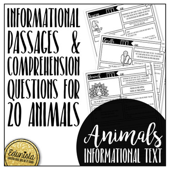 Informational Text: Animals
