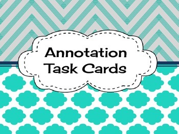 Informational Text Annotation Task Cards