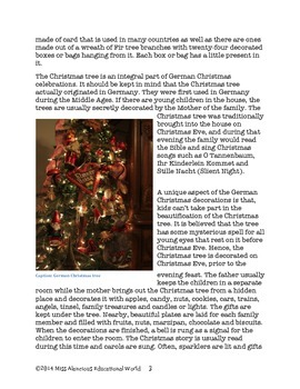 Informational Text Article: A German Christmas!