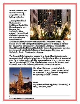 Informational Text Article: The Famous Rockefeller Center Christmas Tree!