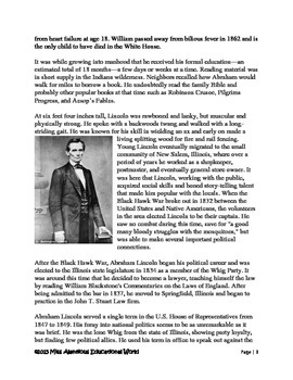 Informational Text Article: Young Lincoln's Journey!