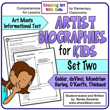 Art History Artist Biographies for Kids Volume Two