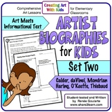 Art History Artist Biographies for Kids Set Two