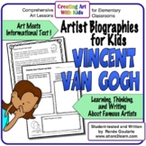 Informational Text Artist Biography Vincent van Gogh Freebie