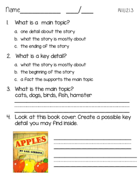 Informational Text Assessment