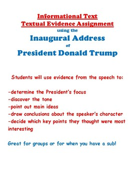 Informational Text Assign. Using Textual Evidence from Trump's Inaugural Address