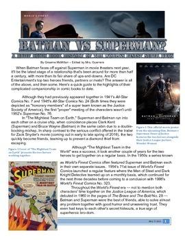 Informational Text: Batman vs Superman