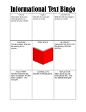 Informational Text Bingo