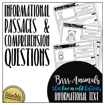 Informational Text: Brr! Animals! | Reading Comprehension Passage and Questions
