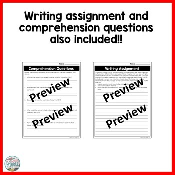 Informational Text Bundle Reading Comprehension With Differentiated Passages