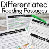 Differentiated Reading Comprehension Passages Bundle Context Clues & Inferences