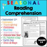 Holiday Reading Comprehension Bundle - Grades 3-5