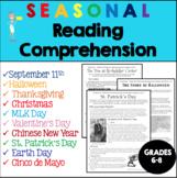 Holiday Reading Comprehension Bundle - Grades 6-8