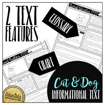 Informational Text: Cat and Dog Freebie Reading Comprehension Passages Questions