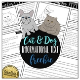 Informational Text: Cat and Dog Freebie Reading Comprehens