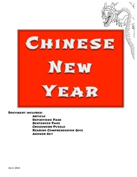 Informational Text: Chinese New Year