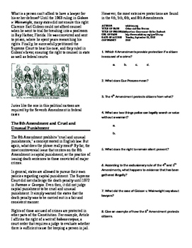 Info Reading Text - Civil Liberties and Rights: Crime and Due Process (No Prep)