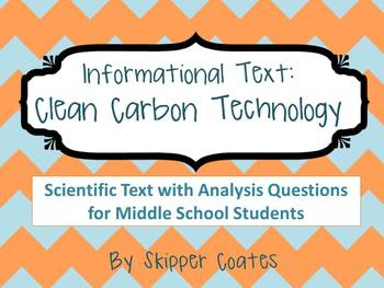 Informational Text: Clean Carbon Technology