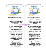 Informational Text Close Read Bookmark