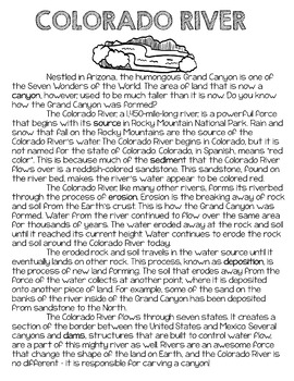 Informational Text Close Read: Colorado River