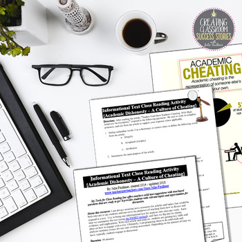 Nonfiction Close Reading Lesson on Hot Topics: A Culture of Cheating