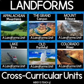 Landforms Informational Text Close Reading BUNDLE