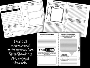 Informational Text: Common Core Booklet for ANY Piece of Nonfiction Text