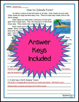 Informational Text Language Arts Assessments 2nd Grade