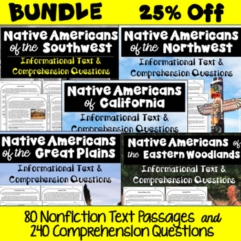 Native American Bundle - Informational Text and Comprehension Questions Bundle