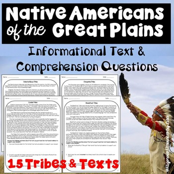 Native Americans of the Great Plains-Informational Text & Comp Questions