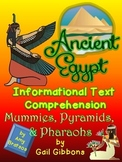 Informational Text Comprehension- Ancient Egypt using Gail Gibbons Read Aloud
