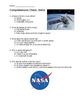 Informational Text Comprehension Check: NASA