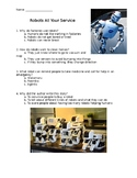 Informational Text Comprehension Check: Robots-At Your Service