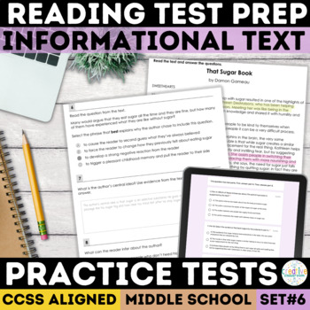 Informational Text Comprehension Passages with SBAC Questions