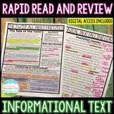 Informational Text Comprehension Review | Distance Learning | Google Classroom