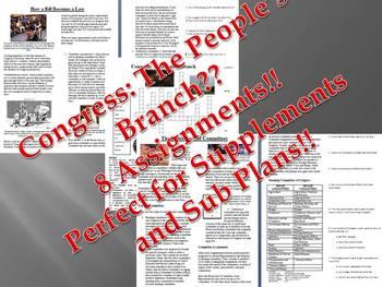 Informational Reading Text - Congress Bundle (No Prep/Sub Plans)