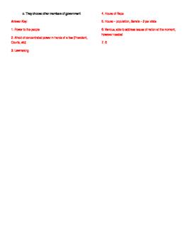 Informational Text - Congress: The Powers of Congress (No Prep)
