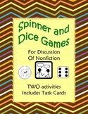 Nonfiction Reading & Discussion Two Spinner or Dice Games 5-9