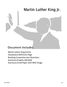 Informational Text: Dr. Martin Luther King Jr. - Activities and Summary