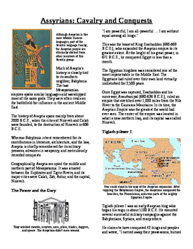 Informational Text - Early Middle East: Assyrian Empire (No Prep)