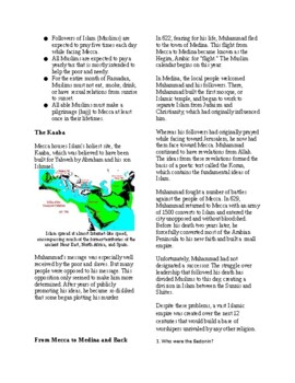 Informational Text - Early Middle East: Islam (No Prep)