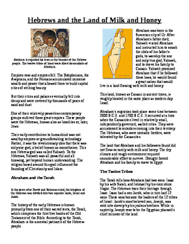 Informational Text - Early Middle East: The Hebrews (No Prep)
