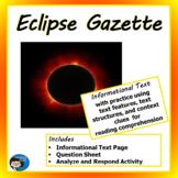 Informational Text - Eclipse Gazette