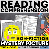 Informational Text Emoji Mystery Picture - Flushed Face
