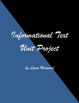 Informational Text End-of-Unit Project