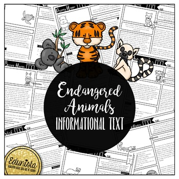 Endangered Animals Comprehension Worksheets & Teaching Resources | TpT